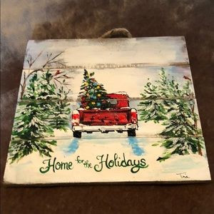 Hand painted home for the holidays